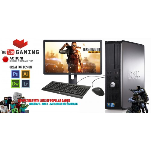 Gaming pc bundle with monitor